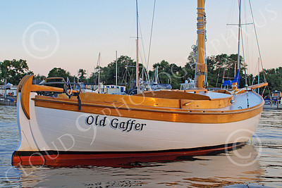 CSS 00034 Civilian sailing boat OLD GAFFER at rest in New York Harbor, by John G Lomba