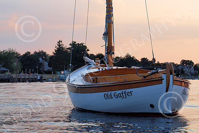 CSS 00017 Civilian sailing boat OLD GAFFER at rest in New York Harbor, by John G Lomba