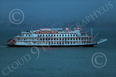 STERNWHEELER 00001 The sternwheeler boat San Francisco Belle Hornblower on San Francisco Bay maritime picture by Peter J Mancus