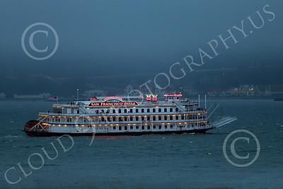 STERNWHEELER 00003 The sternwheeler boat San Francisco Belle Hornblower on San Francisco Bay maritime picture by Peter J Mancus