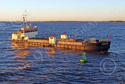 DREDGE 00024 Dredge CURRITUCK under way in New York Harbor, by John G Lomba