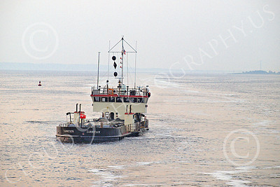 DREDGE 00020 Dredge CURRITUCK under way in New York Harbor, by John G Lomba