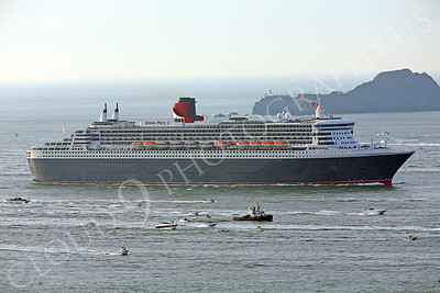 OLS 00004 Queen Mary 2 sails toward San Fransciso Bay by Peter J Mancus