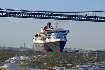 OLS 00009 Civilian ocean liner Cunard QUEEN MARY 2, by John G  Lomba