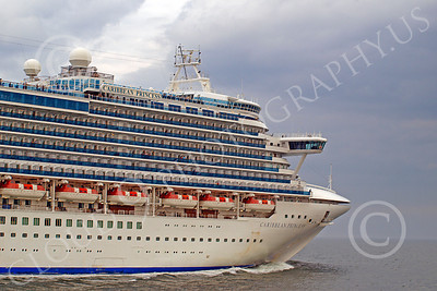 OLS 00012 Ocean liner ship CARIBBEAN PRINCESS, by John G Lomba