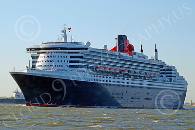 OLS 00007 Civilian ocean liner Cunard QUEEN MARY 2, by John G  Lomba
