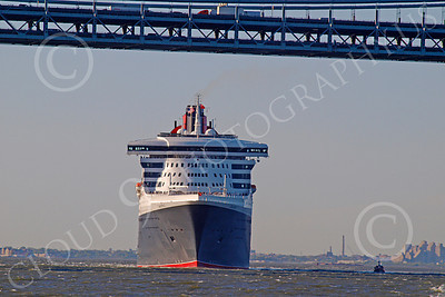 OLS 00008 Civilian ocean liner Cunard QUEEN MARY 2, by John G  Lomba