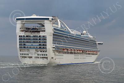 OLS 00014 Ocean liner ship CARIBBEAN PRINCESS, by John G Lomba