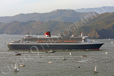 OLS 00005 Queen Mary 2 just before entering San Francisco Bay by Peter J Mancus