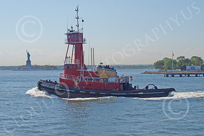 TUGB 00003 Tugboat FREDERICK E BOUCHARD sails pass the Statute of Liberty, by John G  Lomba