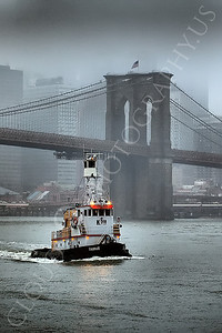TUGB 00015 Tugboat TARUS on the East River in New York City, maritime picture, by John G Lomba