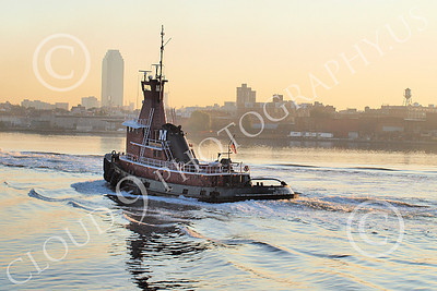 TUGB 00022 A tugboat in New York Harbor, by John G Lomba