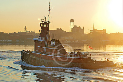 TUGB 00005 Tugboat JEAN TURECAMO under way in New York Harbor, by John G Lomba