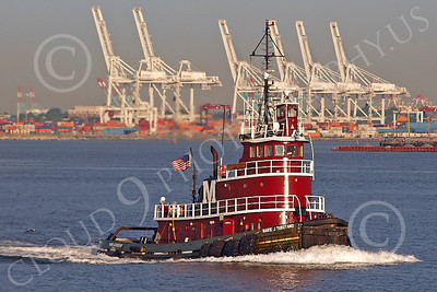 TUGB 00004 Tugboat MARIE J TURECAMO in New York harbor, by John G Lomba