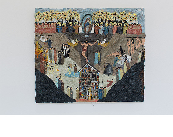 Jeni Sopta, <i>Giotto's Dream (Dreaming of the Polish House Version)</i>, 2007, Painting. Courtesy of Jackson Pickleman and Leslie Bodenstein.