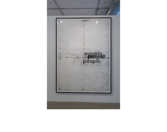 Tony Lewis, <i>people elpoep</i>, 2012, Pencil, graphite powder and tape on paper. Collection of Jordana Joseph and Glen Saltzberg, Chicago.