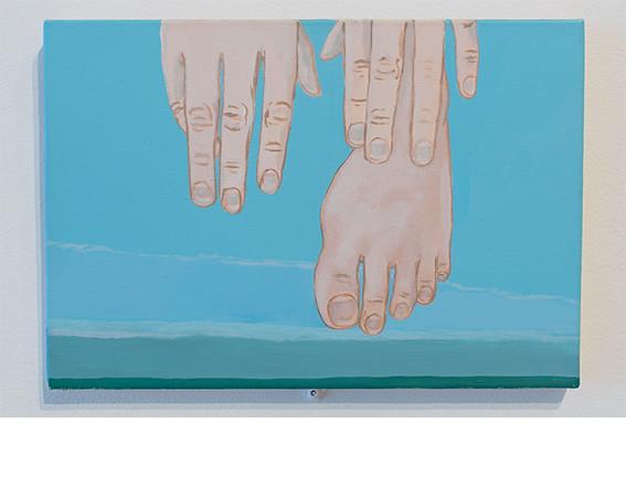Brian Calvin, <i>Hands and Food (Giverny)</i>, 2003, Acrylic on linen. Corbett vs. Dempsey.