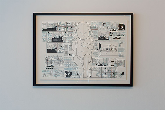 Chris Ware, <i>Building Stories - Ten</i>, 2011, pencil, ink and white gouache on bristol. All works collection of the artist.