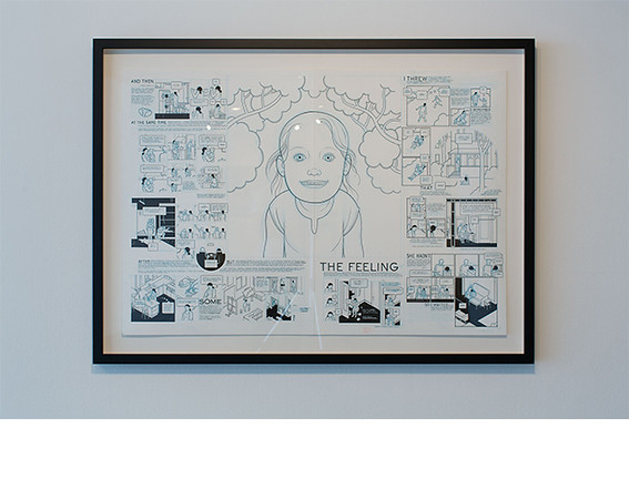 Chris Ware, <i>Building Stories - Newborn</i>, 2008, pencil, ink and white gouache on bristol. All works collection of the artist.