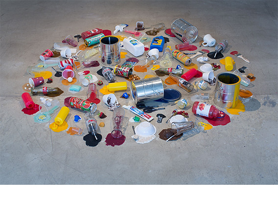 Tony Tasset, <i>Spill Sculpture</i>, 2012, Rubber and mixed media. All works courtesy of the artist and Kavi Gupta Gallery.