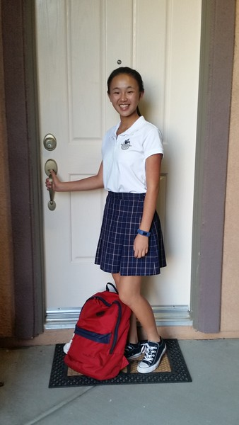 Claire's 1st Day of 10th Grade
