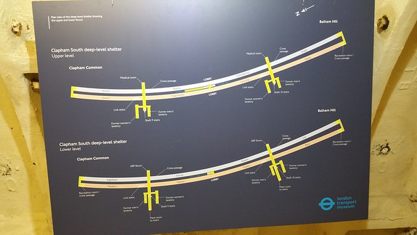 This plan shows the layout of the twin tunnels.