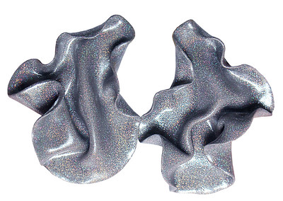 Satin silver glitter