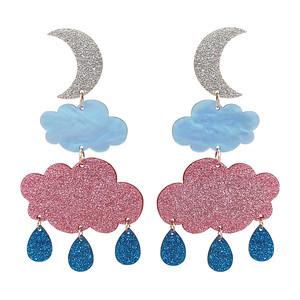 Dubbelmoln med halvmåne och regn