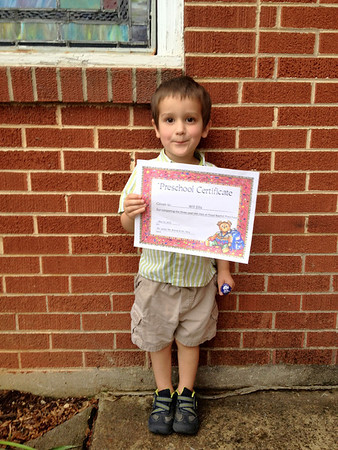 Will's 3 Year Old Preschool Promotion