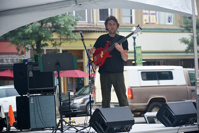 photo by Linda Kerkau  The Clare Music Festival kicked off Friday night and continues through the weekend, featuring live music, art and barbecue.