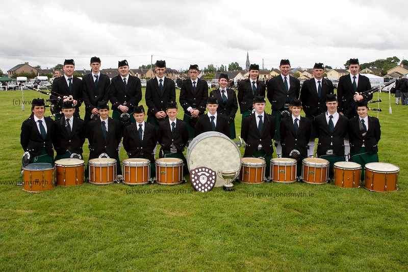 Pipe Band from Achill Island that won their section of the competition. Congratulations !