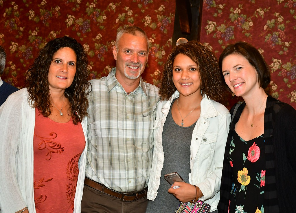 . Melissa, Kevin and Paige Hamel with Meredith Miles. Sentinel & Enterprise / Jim Fay