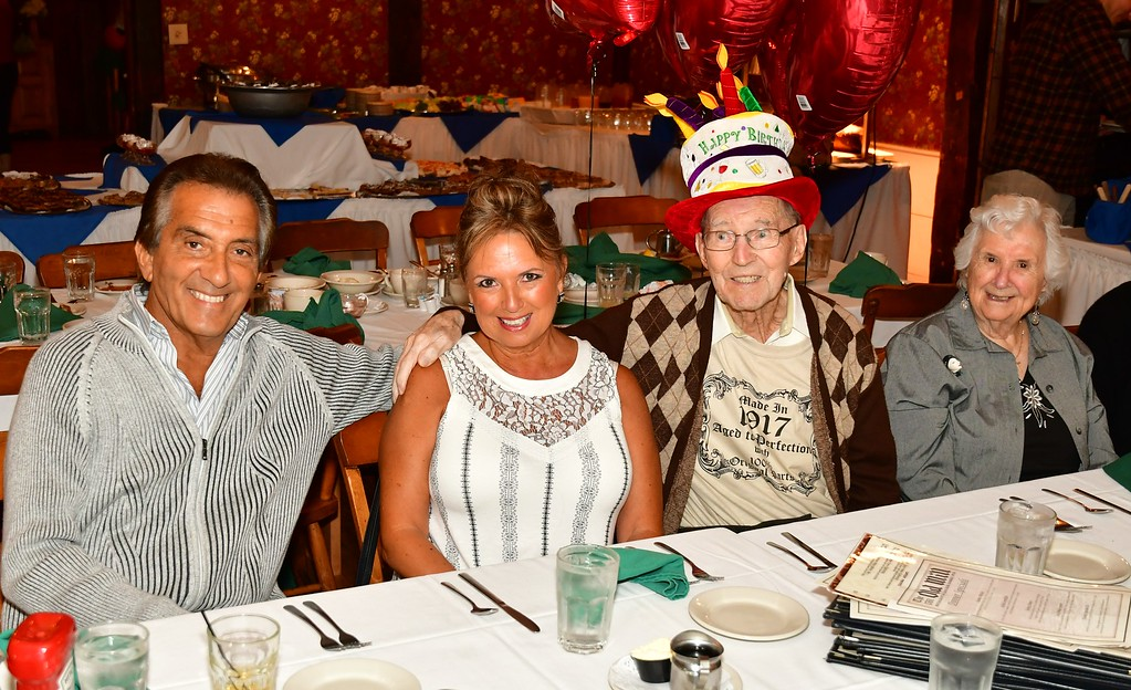 . Pat & Janet Benti with her parents, Clarence & Blanche Goguen. Sentinel & Enterprise / Jim Fay