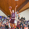 Groton-Dunstable's Logan Higgins puts up a shot. Nashoba Valley Voice/Ed Niser