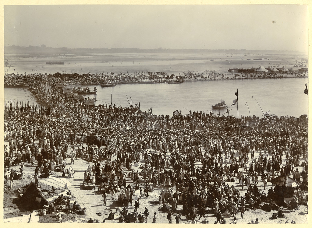 MAGH MELA Right Side 2 Part Panorama 1905