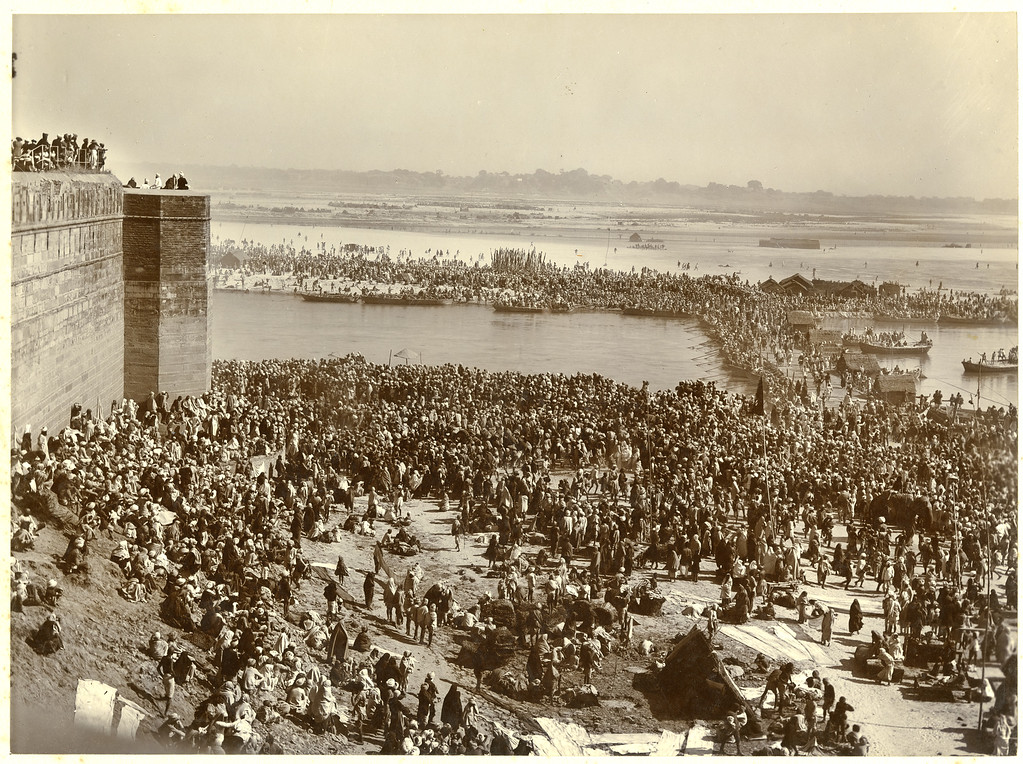 MAGH MELA  Left side 2 part Panorama 1905