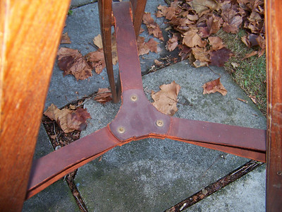 leather for the tripod legs was said to have been replaced in or around the 1964 sale of the telescope.