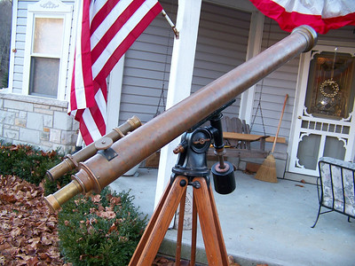 What a vintage telescope!!  This is a great item to place in your backtard!