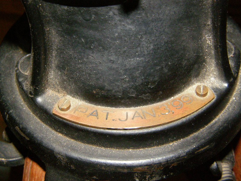 There is a brass plate with PAT. date. This is different as most dates are located near the latitude wing nut and were cast into the casting. Perhaps this design was limited to the Andrew J Llyod - Clark instruments.
