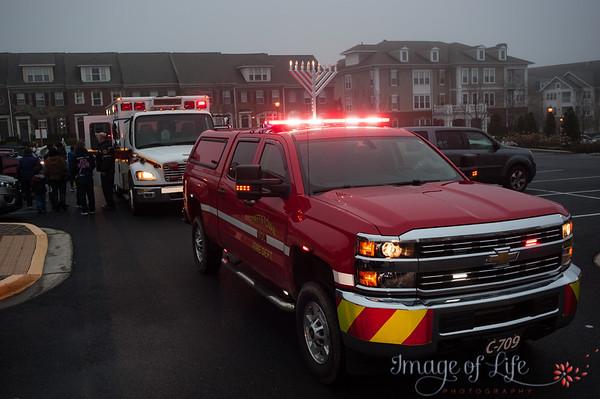 Fire Truck Menorah Parade 2018
