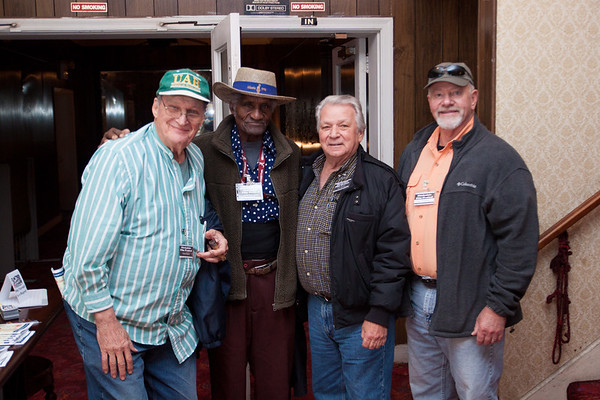 "(L to R) Diane Guyton, Henry ""GIP"", Gipson, Tom Spitzley, and Gary Mackey, all of Birmingham, AL"