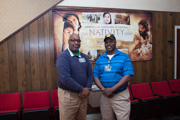 l (to r) Derike Wiley and Bruce Ellis....Bruce is the Owner of the Delta Cinema