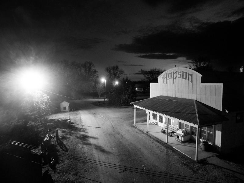 Porch Light at Hopson (BW)