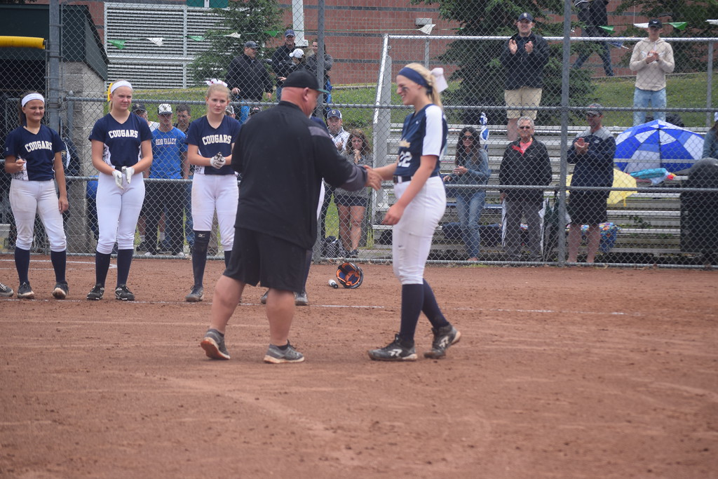 . The Clarkston Wolves won the softball regional at Lake Orion on Saturday. Other teams involved included Waterford Mott, Troy Athens and Birmingham Seaholm. (Photo by Paula Pasche)