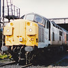37009 in Railfreight Distribution colours is seen At Bescot TMD during the open day on 30th August 1992