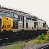37029 with engine running at March TMD on 26th May 1991