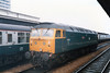 47 611 <br /> <br /> Location: Reading <br /> <br /> Date: 2-07-85<br /> <br /> This loco later became 837 under the twin tank rebuild