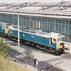 47009 'GUILLEMOT' is seen, well most of it is seen at Tinsley TMD on 28th July 1990