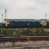 Blue 47017 is seen withdrawn in the former Tinsley Marshalling Yard on 28th July 1990