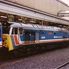 50026 'Indomitable' waits departure from Exeter St. Davids on 29th September 1990